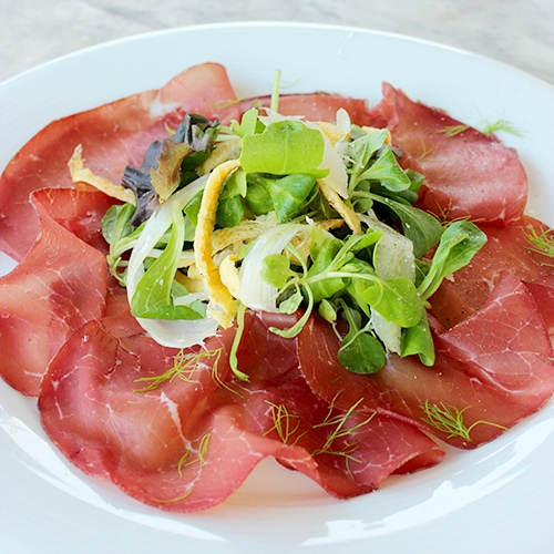 Bresaola with Egg Ribbons and Green Apple Salad - The ...