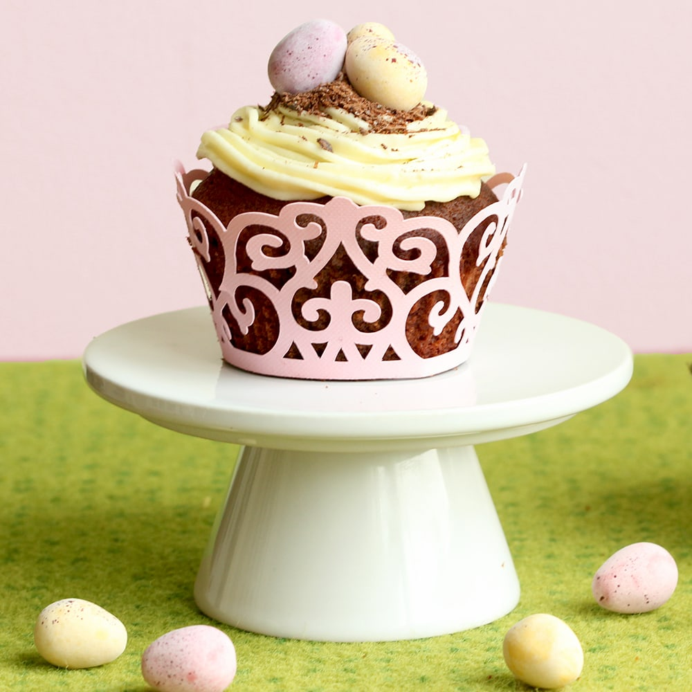 Easter Double Chocolate Cupcakes with Vanilla Buttercream - The Petite ...