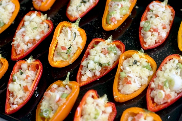 cous cous stuffed mini peppers the petite cook. Black Bedroom Furniture Sets. Home Design Ideas