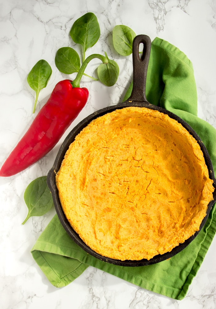This vegetarian Sweet Potato Crust Veggie Quiche is a fun healthy take on one of the most popular French comfort foods – Plus, it's awesomely gluten-free! Recipe from The Petite Cook - thepetitecook.com